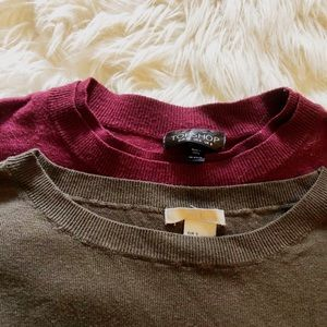 2 for $30 Bundle - Topshop & H&M Sweaters